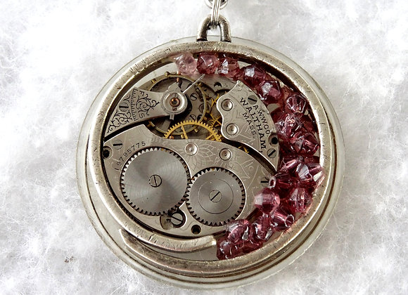 Lavendar Accented Pocket Watch