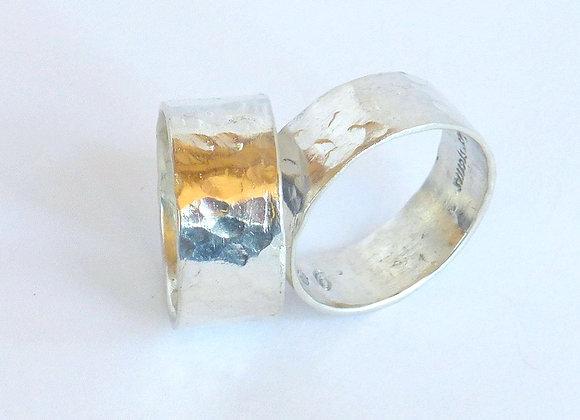 Textured Silver Band, Medium