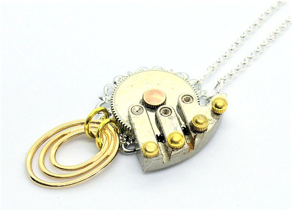 Gold Rings & Watch Movement Pendant