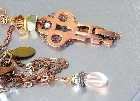 Key & Copper Pendant