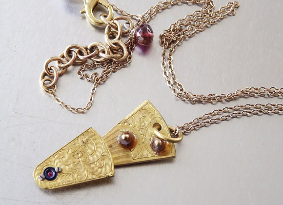 Gold Plated Pocket Wheel Bridge Charm