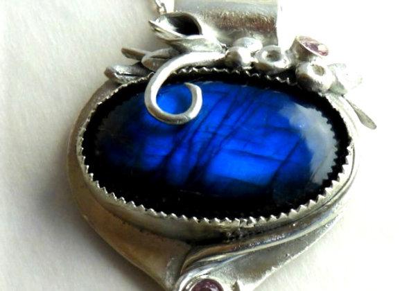 Brilliant Blue Labradorite Oval