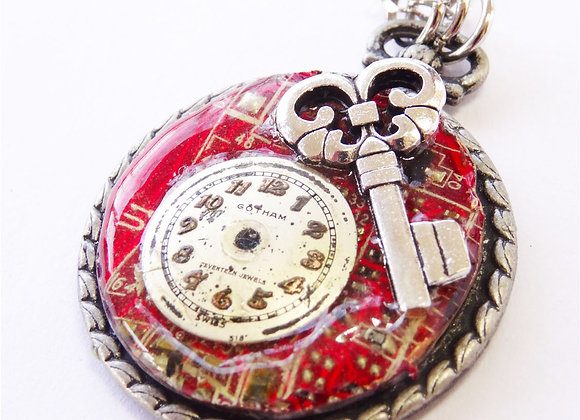 Red Motherboard Pendant & Key