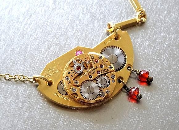 Gold Women's Watch Movement Pendant