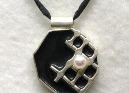 Silver Grid Pendant