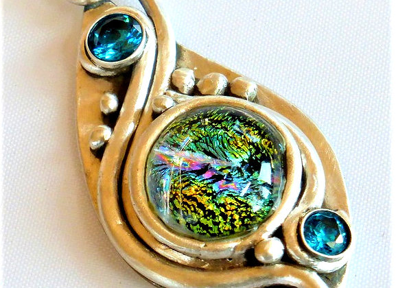 Colorful Dichroic Glass pendant