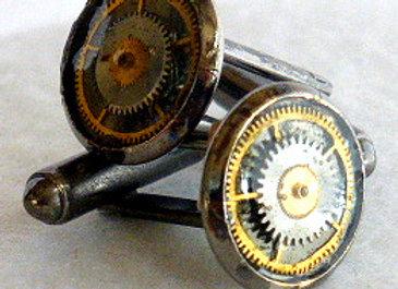Reclaimed Watch Gear Cuff Links