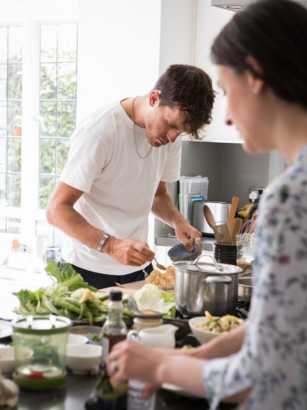 James Taylor, chef for Village Raw magazine. Kate Kuzminova Photography