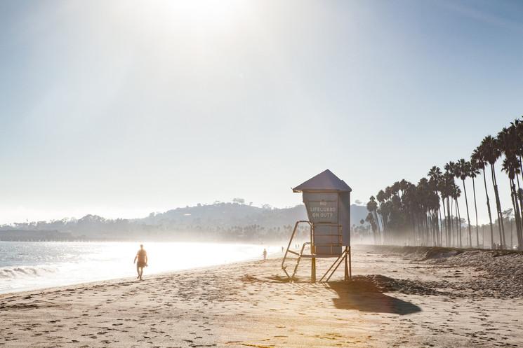 Santa Barbara beach, California