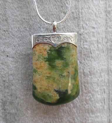 Sterling Silver & Marsden Flower Jade
