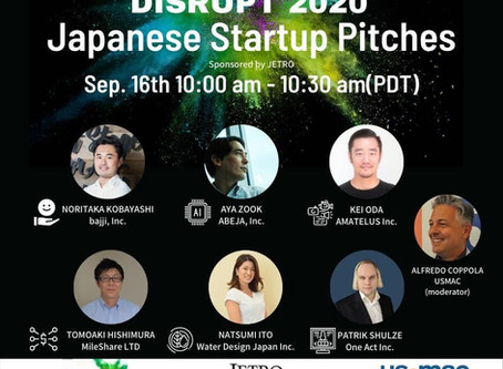 TechCrunch主催のDisrupt 2020(9/14-18)にて、Japan startup pichesでピッチ登壇採択