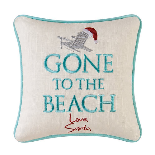 Gone to the Beach-Love, Santa Pillow
