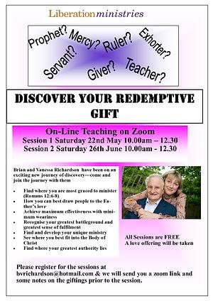 Redemptive Gifts online seminar June 202