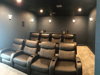 Home Theater for a Southern Shores Vacation Rental