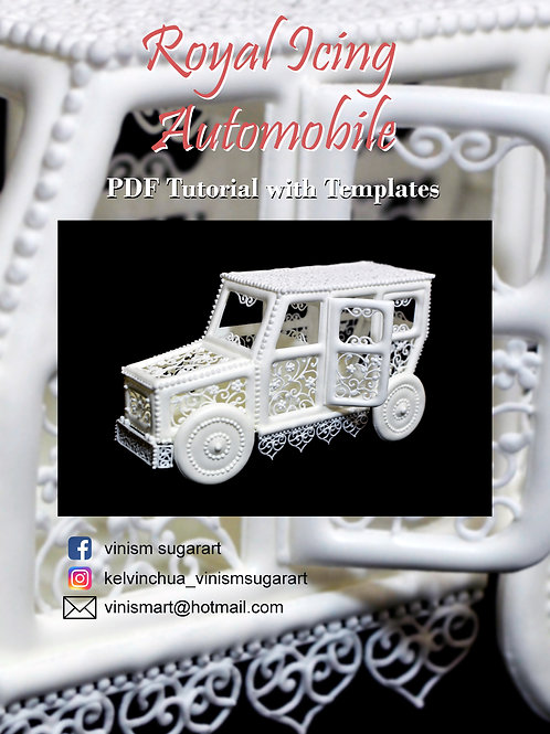 Royal Icing Automobile - PDF Tutorial with Templates