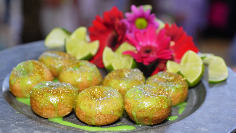 Forested Lime Mini Donuts