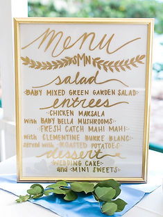 Custom Catering Menu