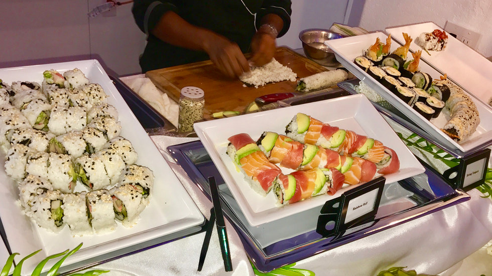 We offer fresh sushi on site!