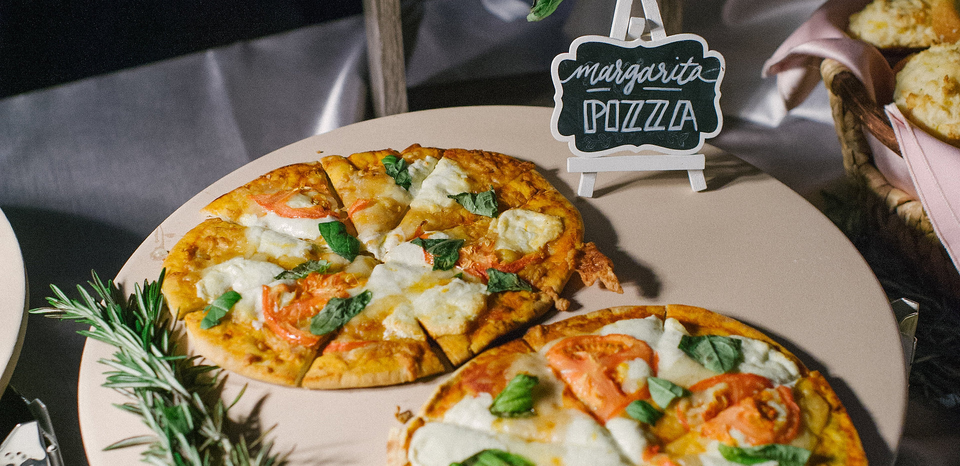 Treat your guests to a pizza station