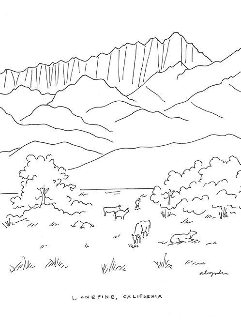 Print // Lone Pine