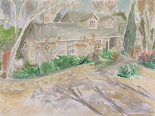 9 x12 Watercolor House Painting