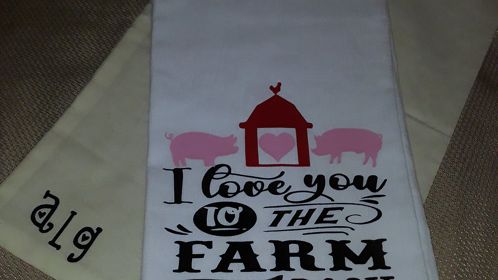 I Love you to the Farm and Back Exclusive Rihn Showpigs gift item