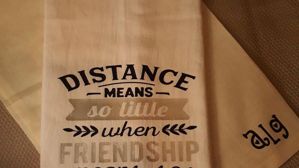 Distance Means So Little Towel