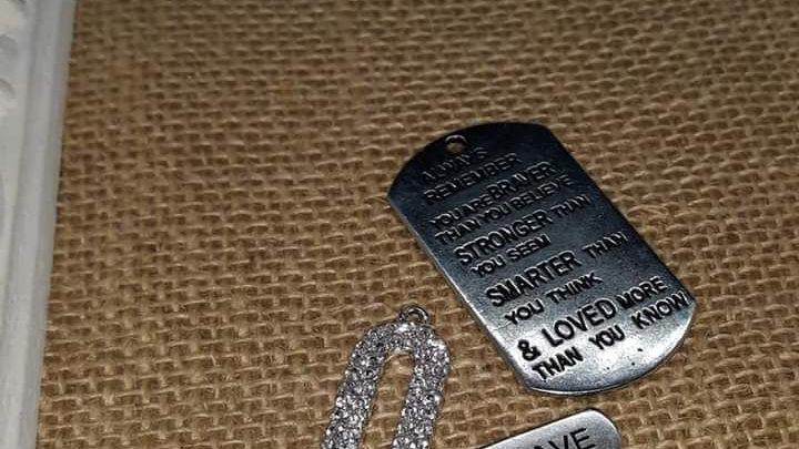 Silver Tone Keychain Purse clip