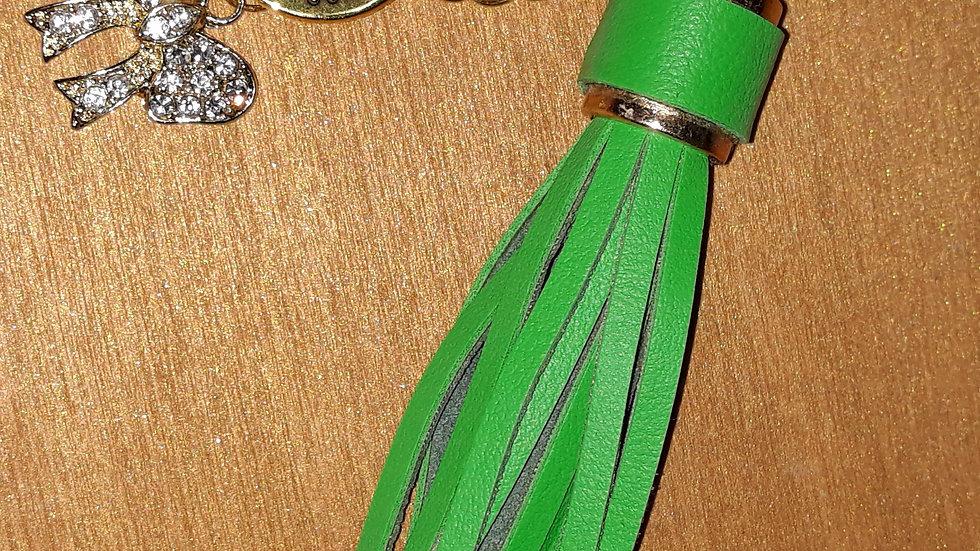 Green Statement Keychain Purse Clip