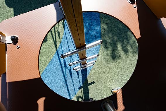 pavimentazione antitrauma in gomma colata in opera, per parchi gioco
