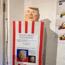 Trump Head sculpture