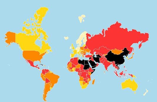 世界報道自由度ランキング2019