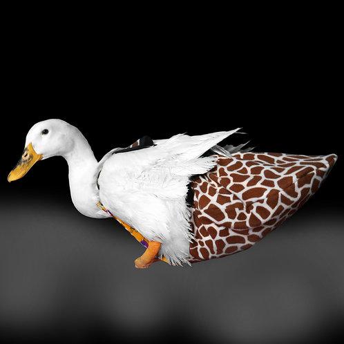 Giraffe Print Duck Diaper