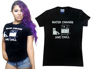 water change and chill t shirt design