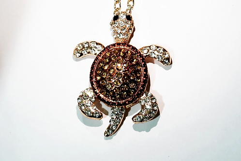 gold turtle charm necklace