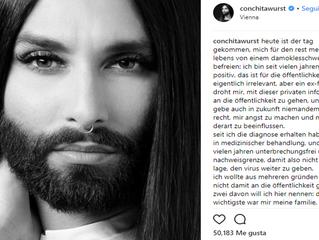 Conchita Wurst hace público su estado de VIH.
