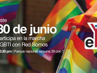 De Stonewall a Bogotá, 50 años de reivindicar a las personas de los sectores LGBTI. Marcha con Red S