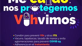 ¡Tapabocas y condón para la prevención y la prueba del VIH con razón!