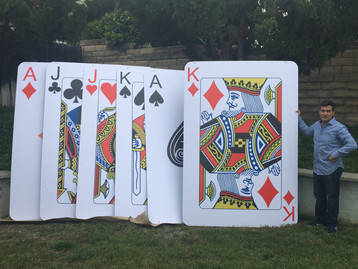 "Giant Cards 60"" x 120"" ( 5ft x 10ft )"