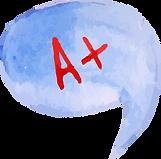 Speech Bubble A+