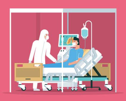 El 90% de los pacientes estadounidenses hospitalizados por  COVID - 19 tienen una enfermedad de base