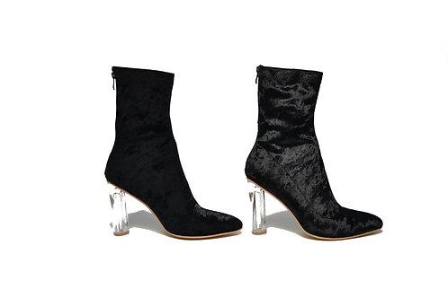 Valerie Black Velvet Boots