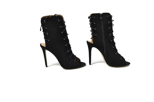 Lacy Liu Black Faux Suede