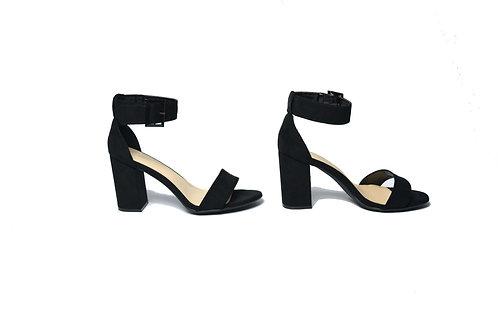 Vivian Black Block Heel Sandals