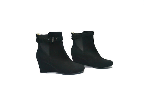 Pleaser USA: Black Suede Ankle Boots