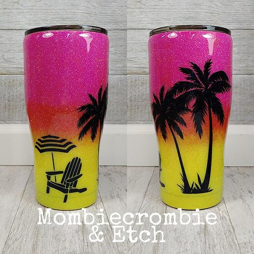Sunset/Beach Tumbler