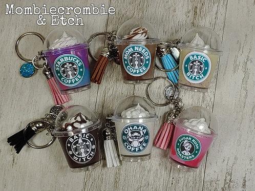 Mini Frappucchino keychains