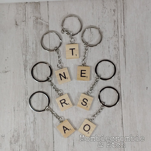 Scrabble Letter Keychain
