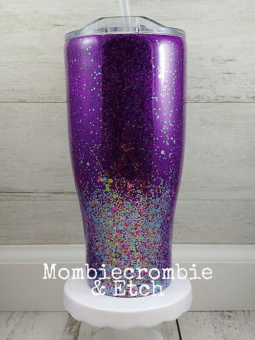Purple Confetti Tumbler