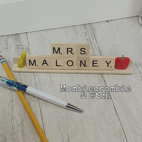 Scrabble tile name plate